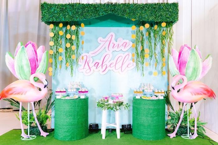 Flamingo Birthday Party on Kara's Party Ideas | KarasPartyIdeas.com (23)