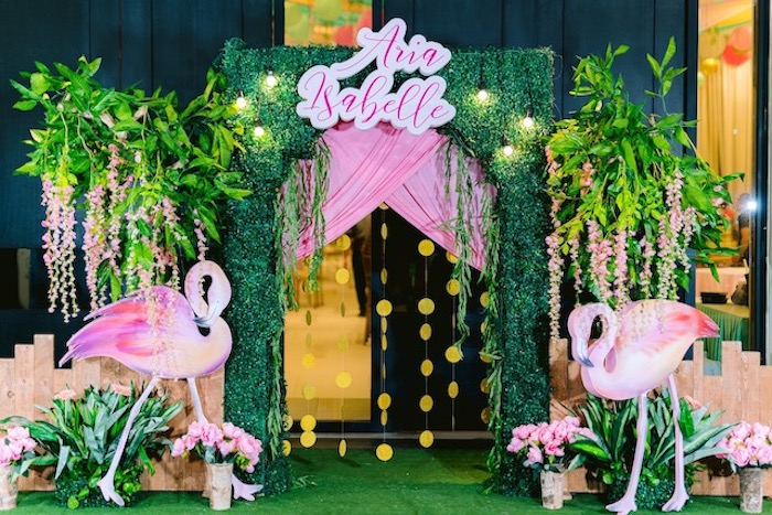 Flamingo Arch from a Flamingo Birthday Party on Kara's Party Ideas | KarasPartyIdeas.com (20)