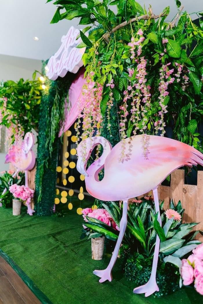 Flamingo Arch from a Flamingo Birthday Party on Kara's Party Ideas | KarasPartyIdeas.com (19)