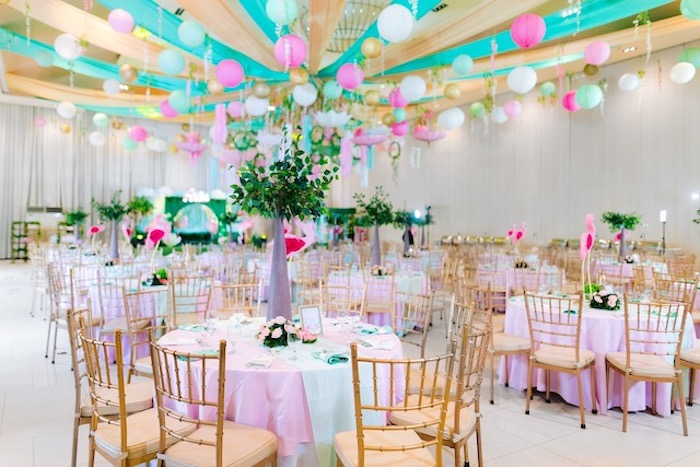 Guest Tables + Partyscape from a Flamingo Birthday Party on Kara's Party Ideas | KarasPartyIdeas.com (18)