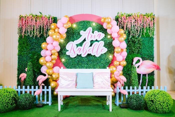 Flamingo Photo Booth from a Flamingo Birthday Party on Kara's Party Ideas | KarasPartyIdeas.com (16)