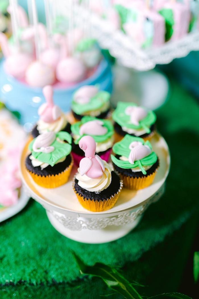 Flamingo Cupcakes from a Flamingo Birthday Party on Kara's Party Ideas | KarasPartyIdeas.com (11)