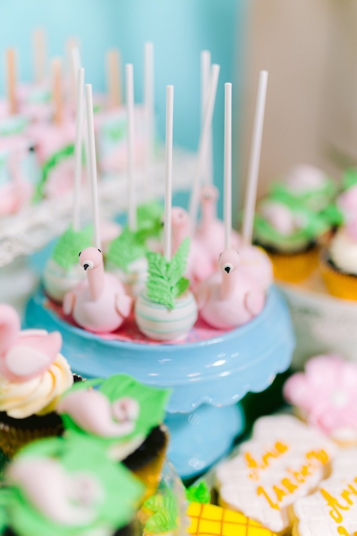 Flamingo Cake Pops from a Flamingo Birthday Party on Kara's Party Ideas | KarasPartyIdeas.com (9)
