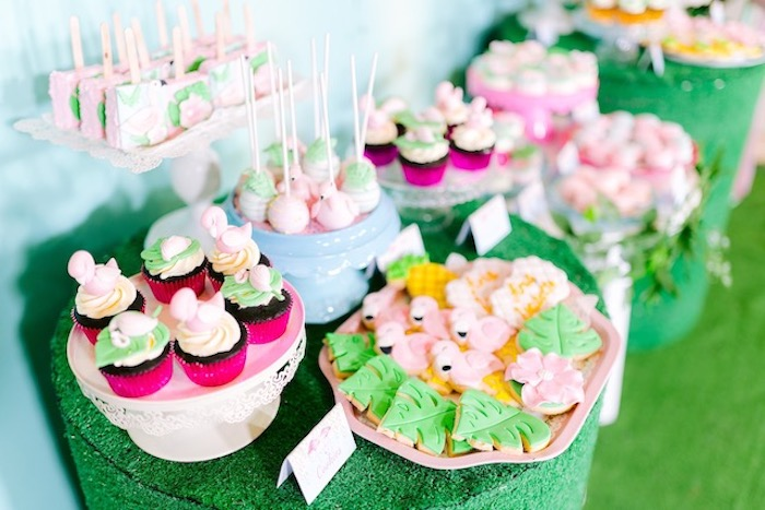 Tropical Treats from a Flamingo Birthday Party on Kara's Party Ideas | KarasPartyIdeas.com (5)