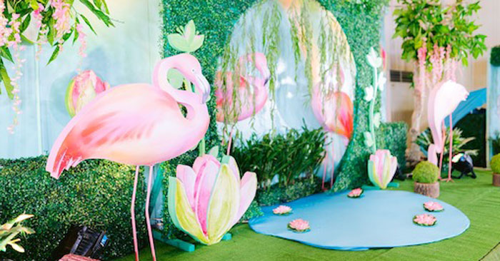 Flamingo Birthday Party on Kara's Party Ideas | KarasPartyIdeas.com (3)