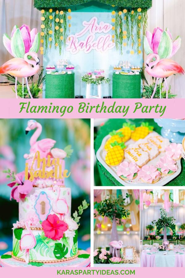 Flamingo Birthday Party via Kara's Party Ideas - KarasPartyIdeas.com