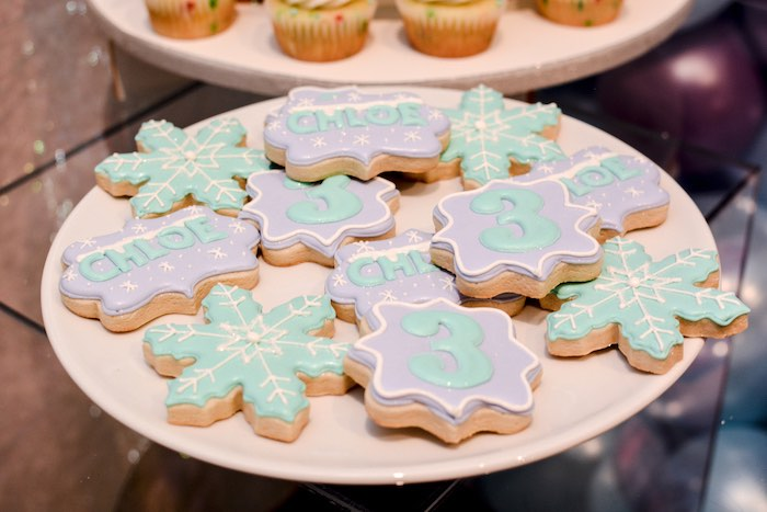 Frozen Themed Sugar Cookies from a Frozen Birthday Party on Kara's Party Ideas | KarasPartyIdeas.com (9)