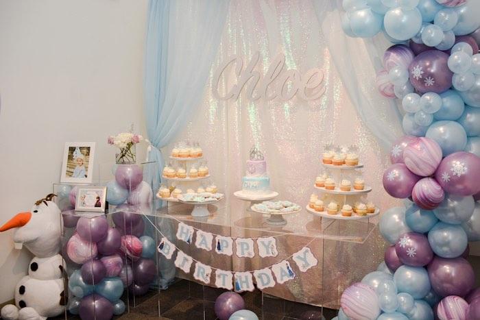 Frozen-inspired Dessert Table from a Frozen Birthday Party on Kara's Party Ideas | KarasPartyIdeas.com (8)