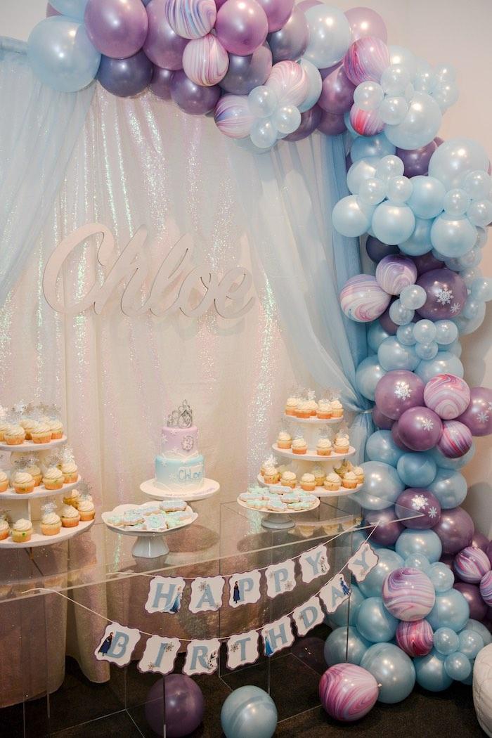 Frozen-inspired Dessert Table from a Frozen Birthday Party on Kara's Party Ideas | KarasPartyIdeas.com (6)