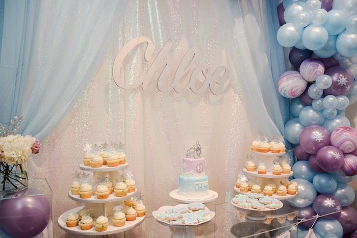 Frozen-inspired Dessert Table from a Frozen Birthday Party on Kara's Party Ideas | KarasPartyIdeas.com (5)