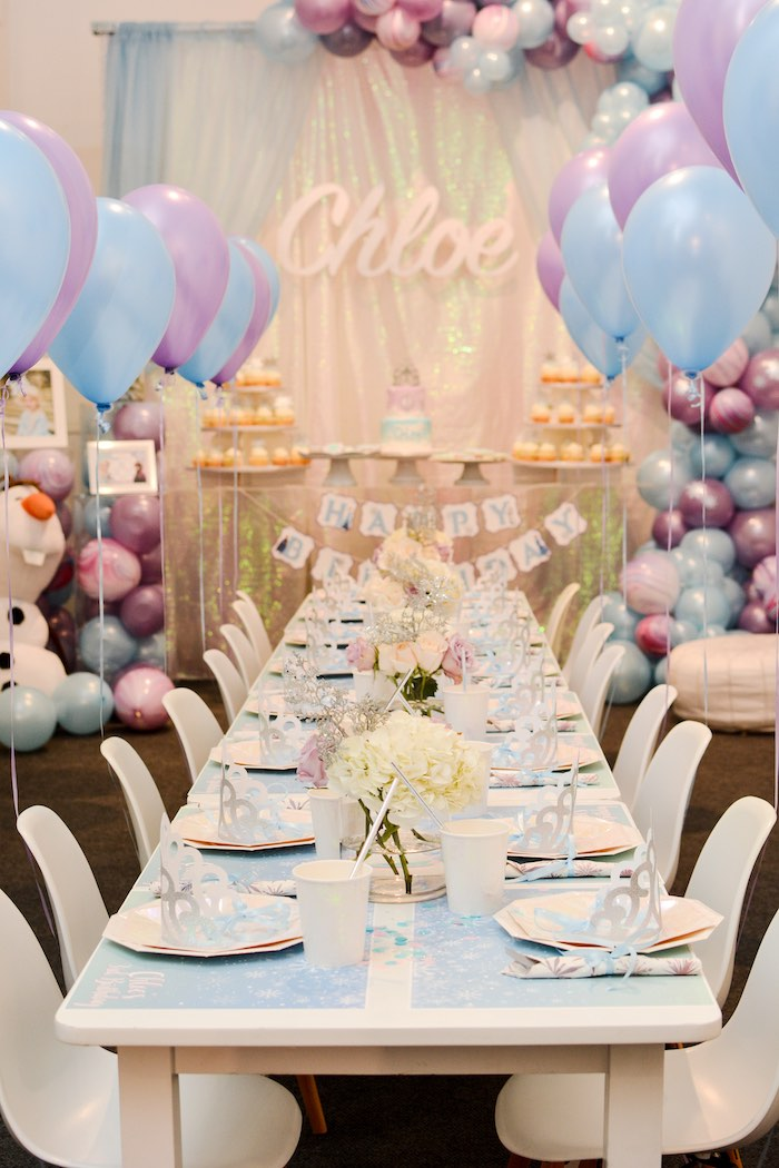 Frozen-inspired Guest Table from a Frozen Birthday Party on Kara's Party Ideas | KarasPartyIdeas.com (23)