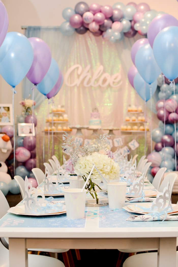 Frozen-inspired Guest Table from a Frozen Birthday Party on Kara's Party Ideas | KarasPartyIdeas.com (22)