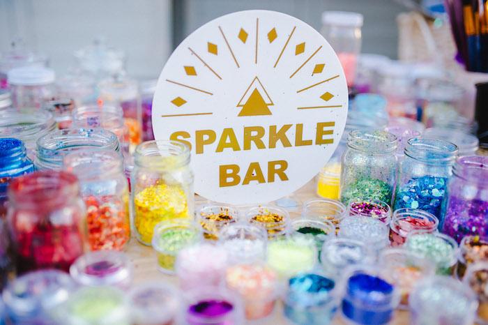 Sparkle Bar from a Glamchella Boho 21st Birthday Party on Kara's Party Ideas | KarasPartyIdeas.com (12)