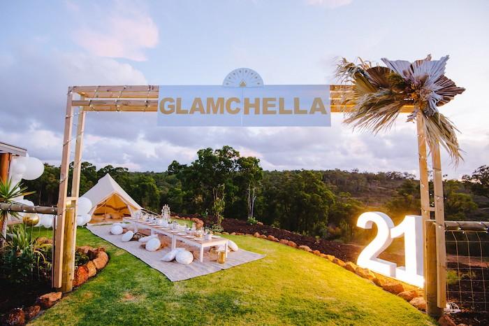 Glamchella Boho 21st Birthday Party on Kara's Party Ideas | KarasPartyIdeas.com (22)