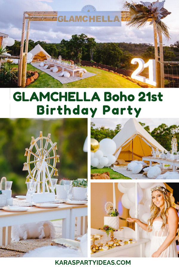 Glamchella Boho 21st Birthday Party via Kara's Party Ideas - KarasPartyIdeas.com