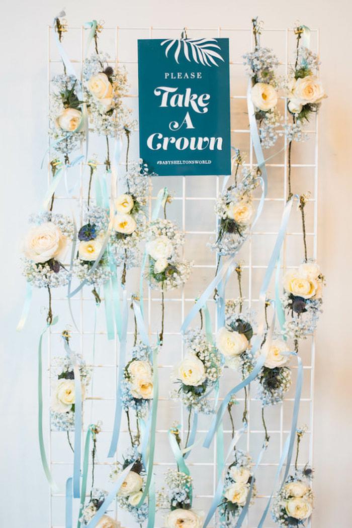 Favor Crowns from an Island Baby Shower on Kara's Party Ideas | KarasPartyIdeas.com (25)