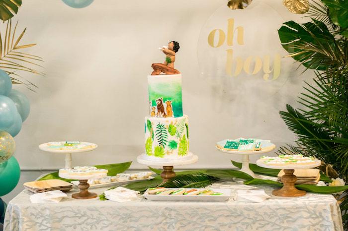 Tropical Themed Dessert Table from an Island Baby Shower on Kara's Party Ideas | KarasPartyIdeas.com (22)