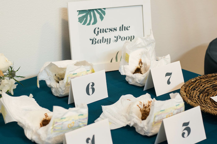 """Baby Shower """"Poop"""" Game from an Island Baby Shower on Kara's Party Ideas 