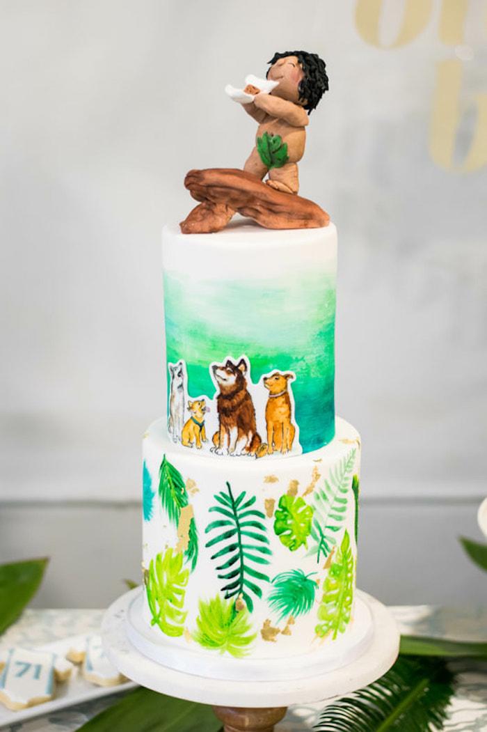 Tropical Cake from an Island Baby Shower on Kara's Party Ideas | KarasPartyIdeas.com (30)