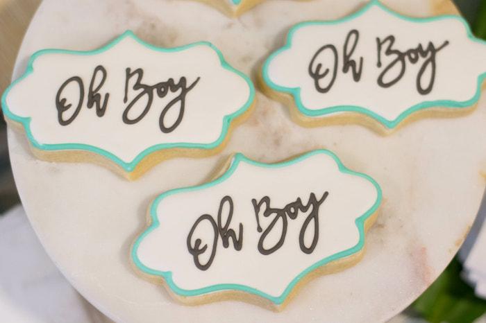 """Oh Boy"" Cookies from an Island Baby Shower on Kara's Party Ideas | KarasPartyIdeas.com (28)"