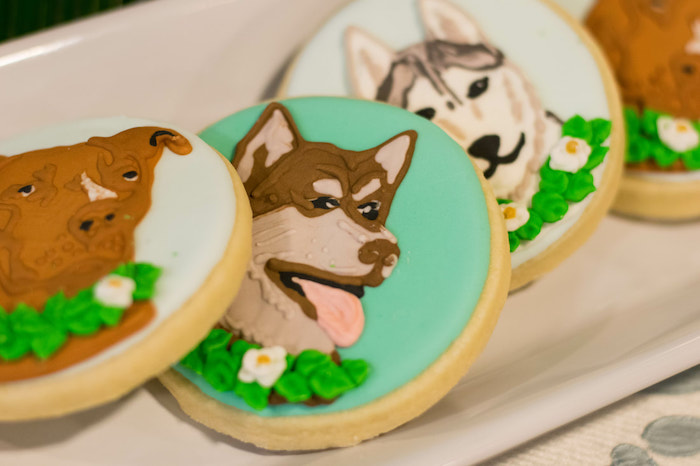 Tropical Pup Cookies from an Island Baby Shower on Kara's Party Ideas | KarasPartyIdeas.com (26)