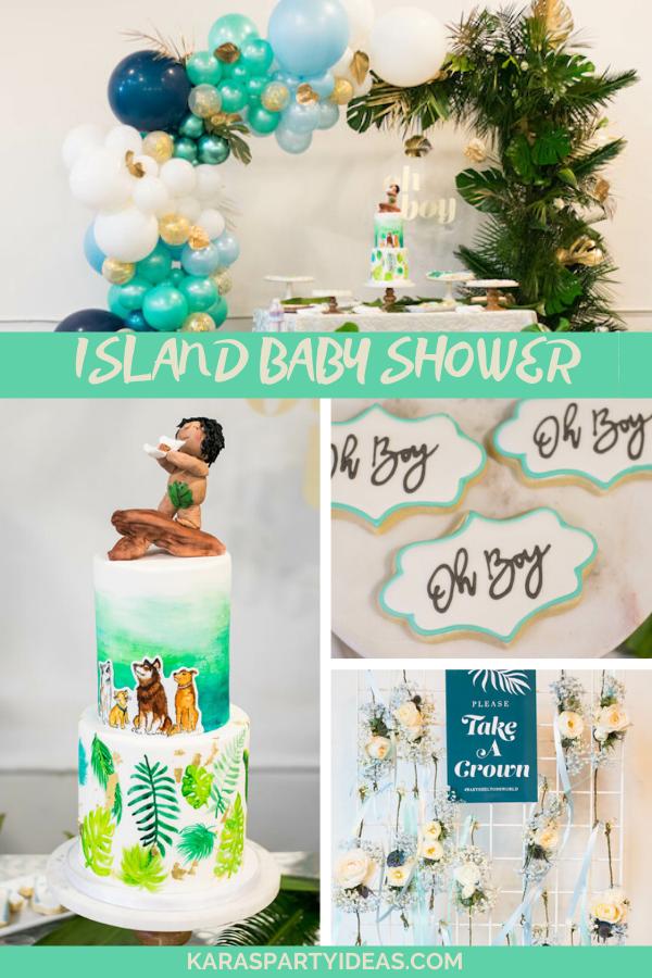 Island Baby Shower via Kara's Party Ideas - KarasPartyIdeas.com