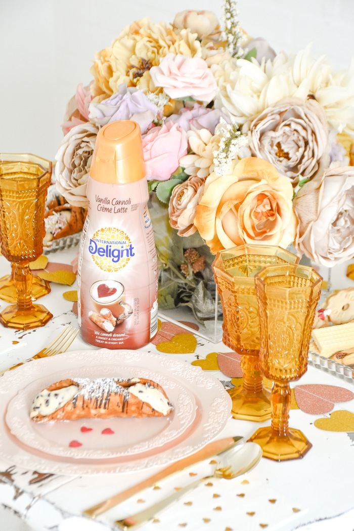 Italian Bistro Valentine's Day Party with Vanilla Cannoli Crème International Delight by Kara's Party Ideas-1