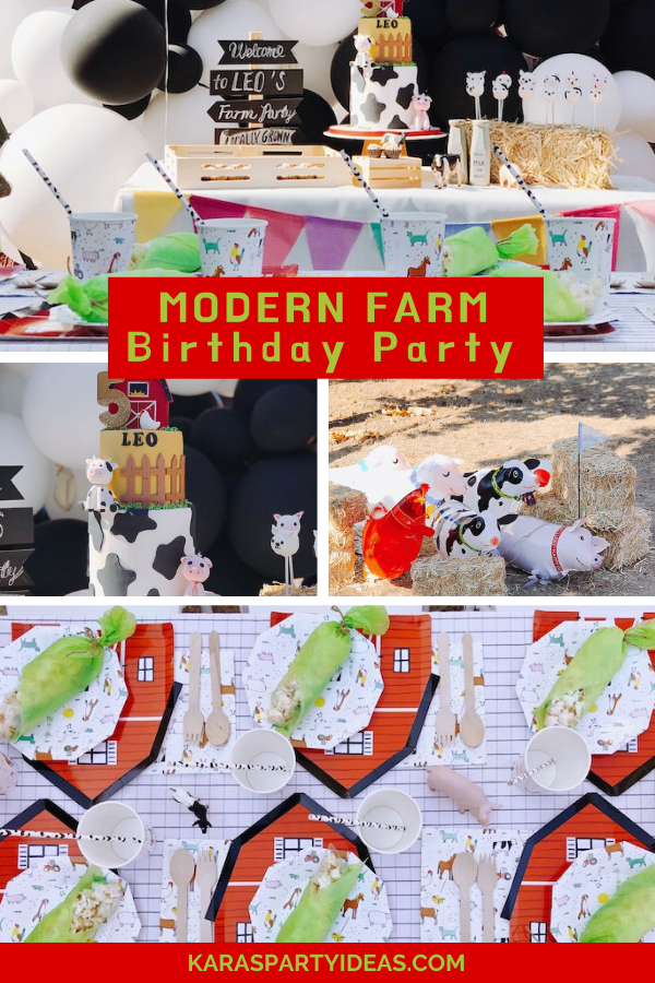 Modern Farm Birthday Party via KarasPartyIdeas - KarasPartyIdeas.com