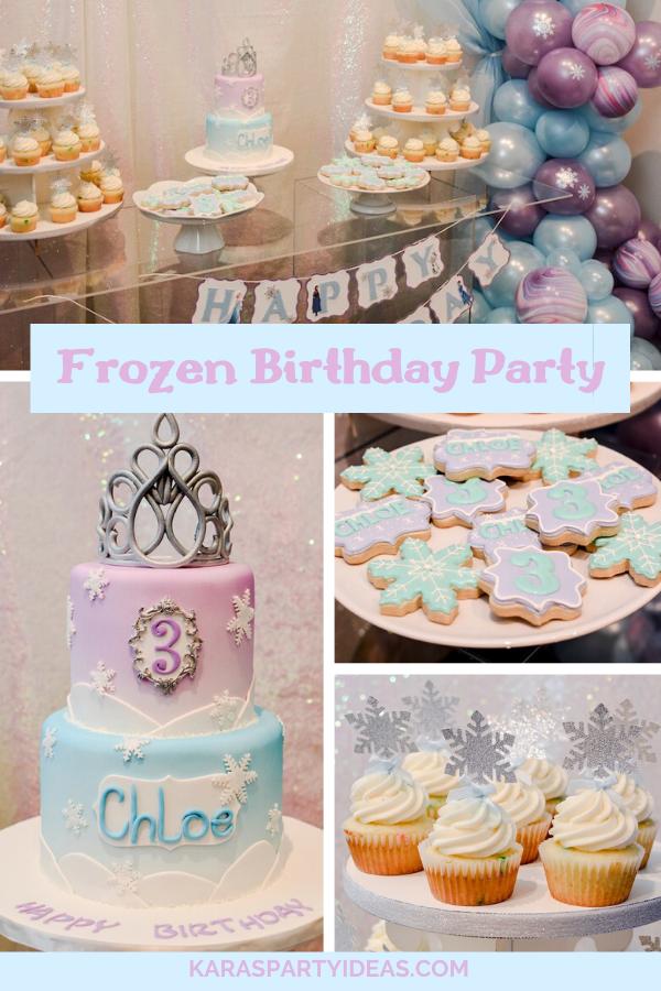 Modern Frozen Birthday Party via Kara's Party Ideas - KarasPartyIdeas.com