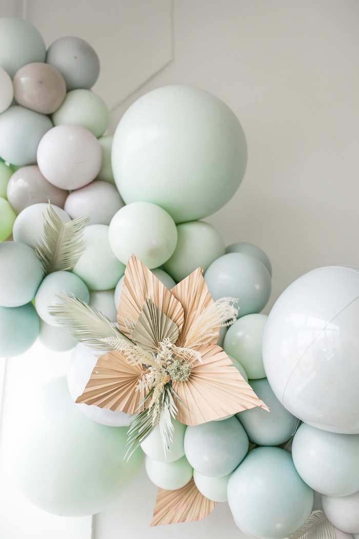 Harvest-inspired Paper Flower from a Monochromatic Boho Harvest Birthday Party on Kara's Party Ideas | KarasPartyIdeas.com (30)