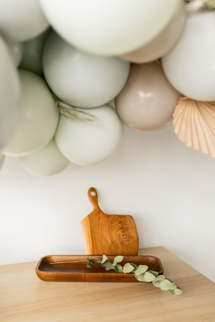 Wood Cutting Board + Tray from a Monochromatic Boho Harvest Birthday Party on Kara's Party Ideas | KarasPartyIdeas.com (9)