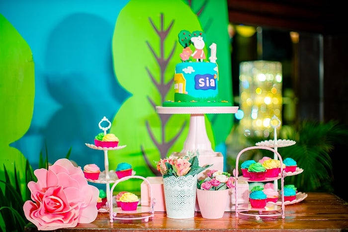 Peppa Pig Themed Dessert Table from a Peppa Pig Birthday Party on Kara's Party Ideas | KarasPartyIdeas.com (17)