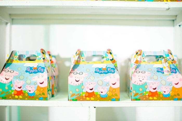 Peppa Pig Gable Boxes from a Peppa Pig Birthday Party on Kara's Party Ideas | KarasPartyIdeas.com (12)