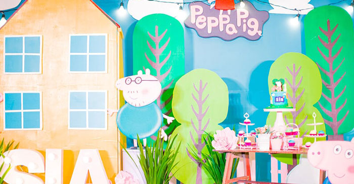 Peppa Pig Birthday Party on Kara's Party Ideas | KarasPartyIdeas.com (2)