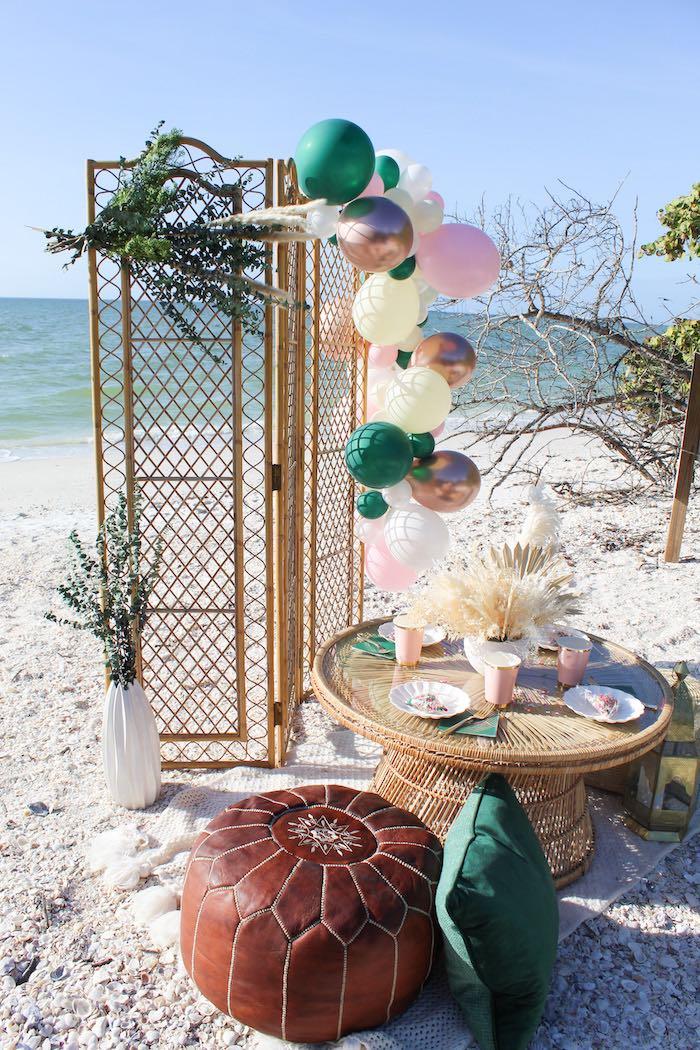 Pink & Green Boho Beach Party on Kara's Party Ideas | KarasPartyIdeas.com (15)
