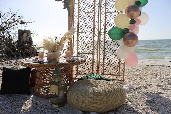 Pink & Green Boho Beach Party on Kara's Party Ideas | KarasPartyIdeas.com (14)
