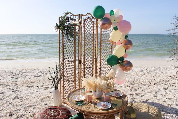 Pink & Green Boho Beach Party on Kara's Party Ideas | KarasPartyIdeas.com (21)