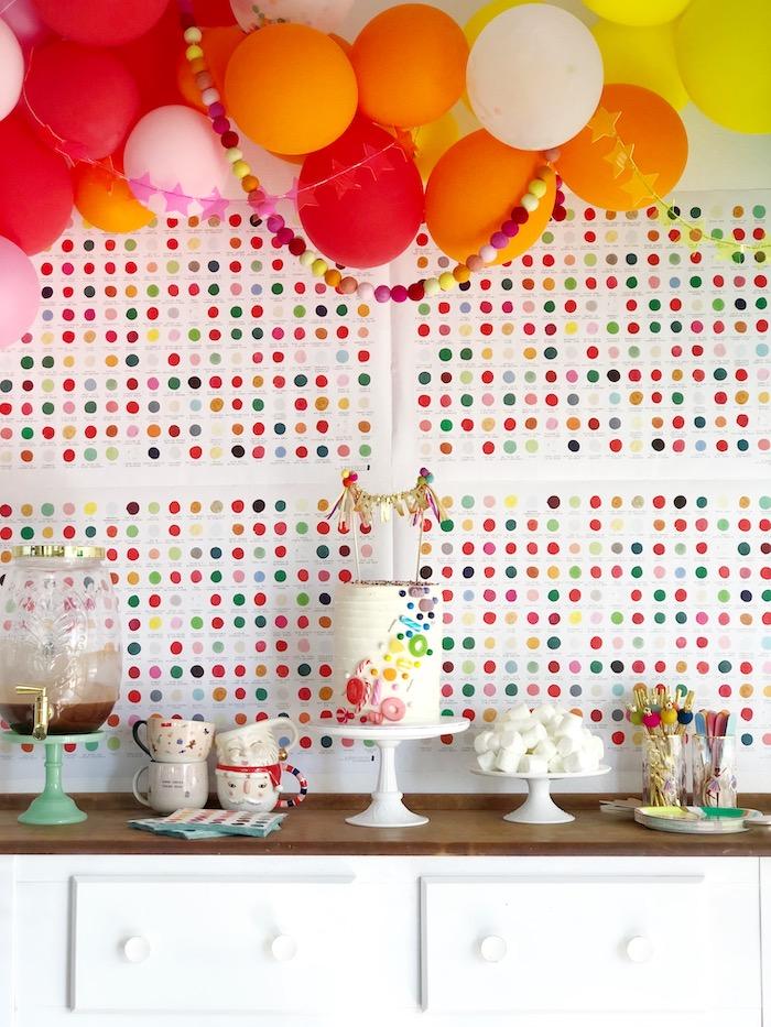 Rainbow Themed Dessert Table from a Rainbow Christmas Birthday Party on Kara's Party Ideas | KarasPartyIdeas.com (36)