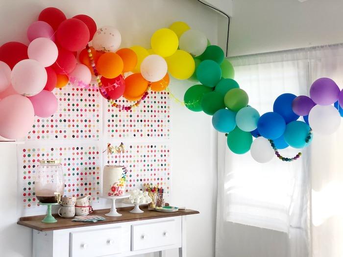 Rainbow Christmas Birthday Party on Kara's Party Ideas | KarasPartyIdeas.com (34)
