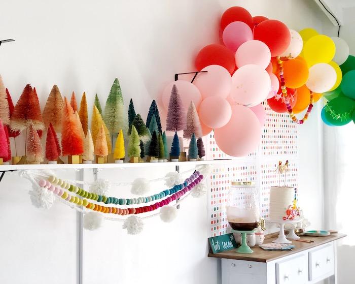 Rainbow Christmas Birthday Party on Kara's Party Ideas | KarasPartyIdeas.com (28)