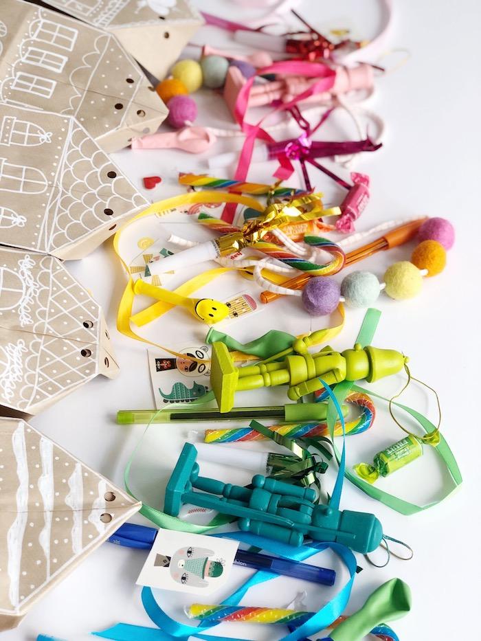 Rainbow-inspired Nutcrackers + Party Favors from a Rainbow Christmas Birthday Party on Kara's Party Ideas | KarasPartyIdeas.com (45)