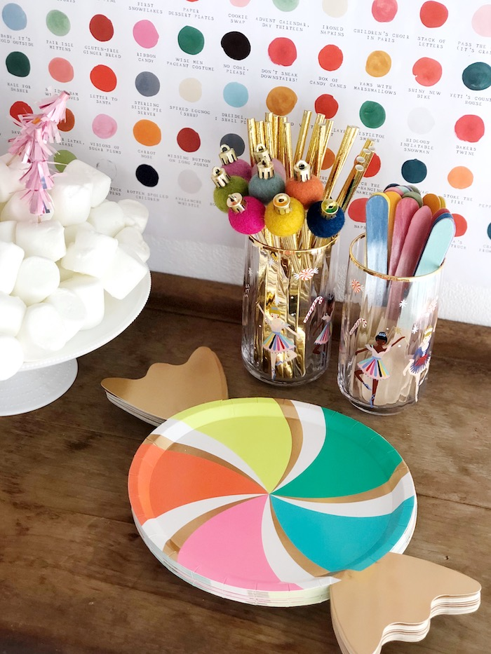 Partyware from a Rainbow Christmas Birthday Party on Kara's Party Ideas | KarasPartyIdeas.com (16)