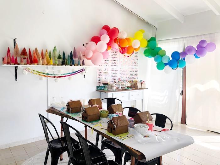 Rainbow Christmas Birthday Party on Kara's Party Ideas | KarasPartyIdeas.com (12)