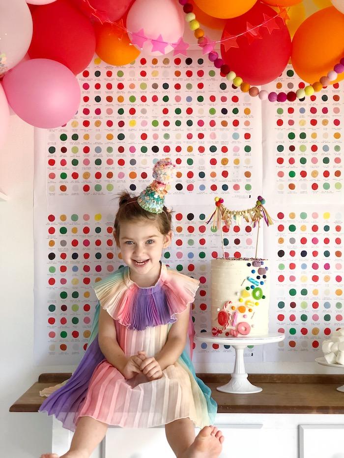 Rainbow Christmas Birthday Party on Kara's Party Ideas | KarasPartyIdeas.com (42)