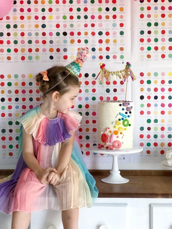 Rainbow Christmas Birthday Party on Kara's Party Ideas | KarasPartyIdeas.com (41)