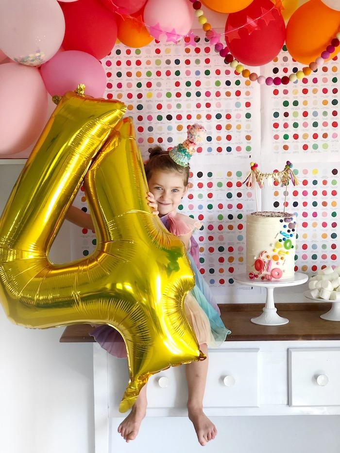 Rainbow Christmas Birthday Party on Kara's Party Ideas | KarasPartyIdeas.com (39)