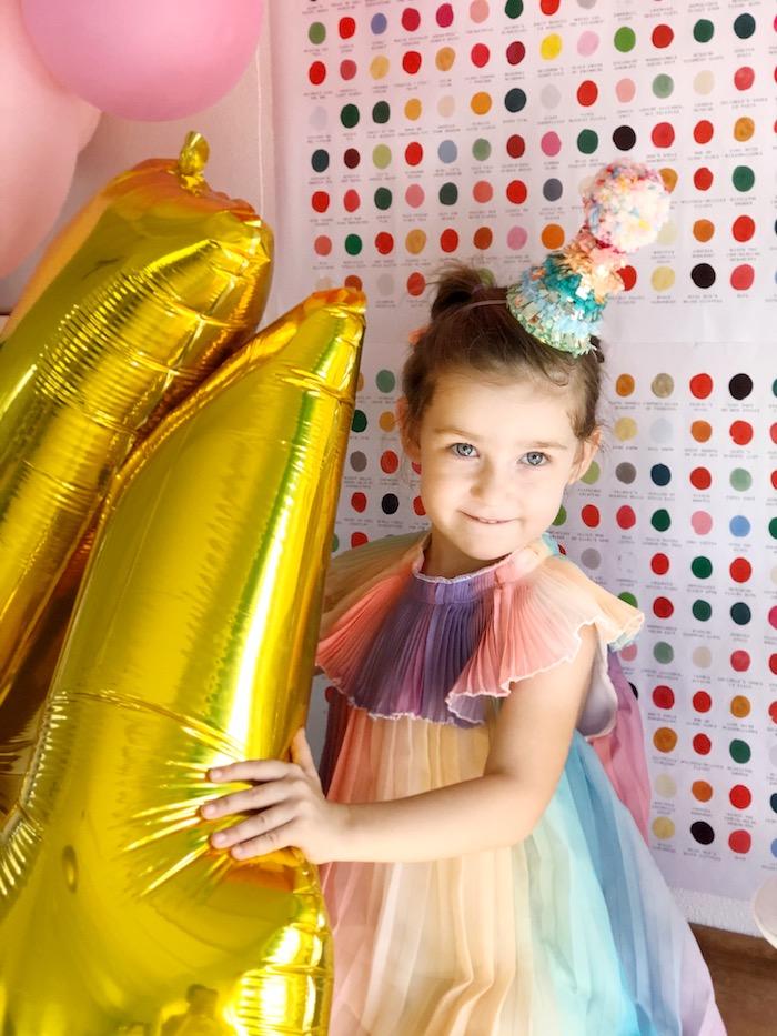 Rainbow Party Dress from a Rainbow Christmas Birthday Party on Kara's Party Ideas | KarasPartyIdeas.com (38)