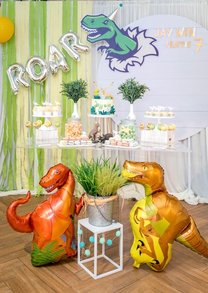 Roar Dinosaur Birthday Party on Kara's Party Ideas | KarasPartyIdeas.com (8)