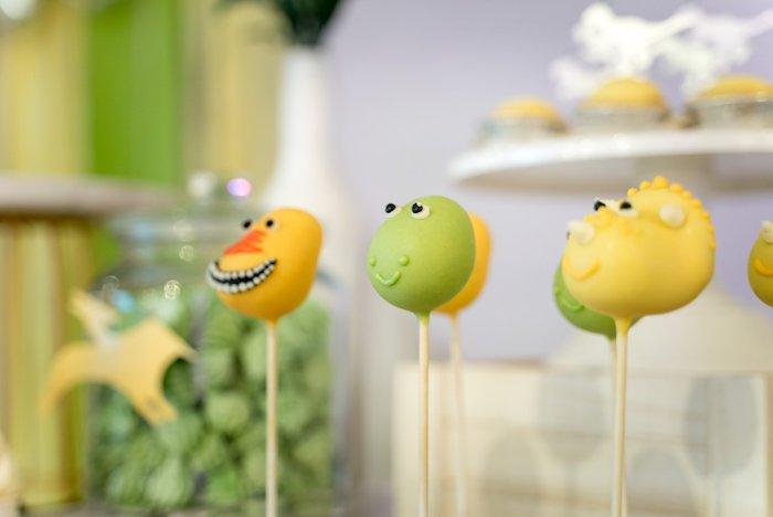 Dinosaur Cake Pops from a Roar Dinosaur Birthday Party on Kara's Party Ideas | KarasPartyIdeas.com (21)