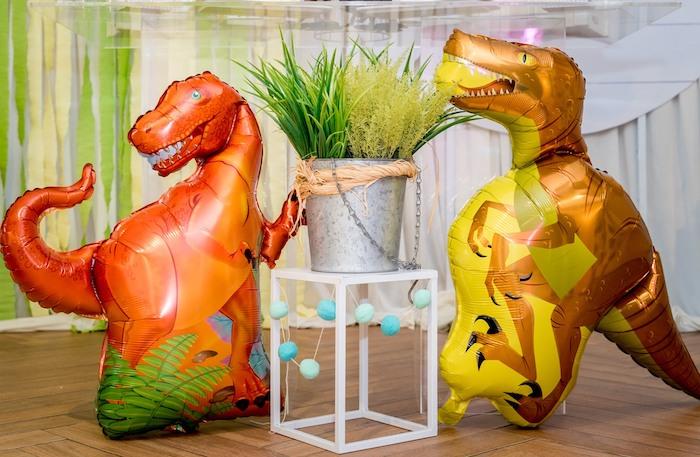 Mylar Balloon Dinosaurs from a Roar Dinosaur Birthday Party on Kara's Party Ideas | KarasPartyIdeas.com (18)